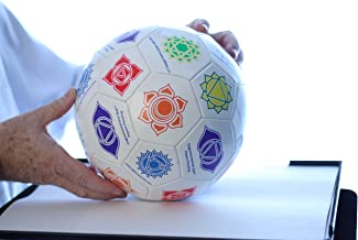 Cognomovement Combo - Soccer Ball Style and Large Beach Ball Style+ 1-Year Subscription   Physical & Mental Exercise Ball   Promotes Healthy Eating - Managing Stress Caused Emotional Eating