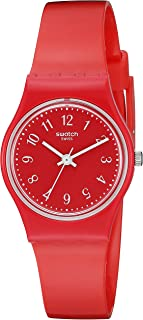 Swatch Women's LR127 Pretty Sexy Year-Round Analog Quartz Red Watch
