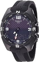 Tissot Men's T-Touch Expert Titanium Swiss-Quartz Watch with Silicone Strap, Black,..