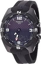 Tissot Men's T-Touch Expert Titanium Swiss-Quartz Watch with Silicone Strap, Black, 20 (Model: T0914204705701)