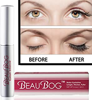 Eyelash Rapid Growth Serum 7 Day Results with no side effects - NATURAL & utmost powerful Ingredients Used -Have your eyelashes Darker, Longer, Thicker, and Nicer in no time … BeauBog(TM)