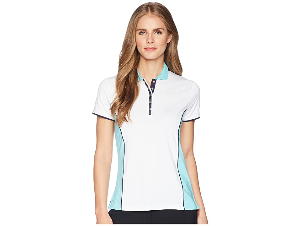 Callaway Color-Blocked Short Sleeve Polo (Blue Radiance) Women's Short Sleeve Pullover