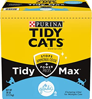 Purina Tidy Cats Clumping Cat Litter, Tidy Max Glade Tough Odor Clear Springs Multi Cat..
