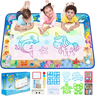 Ophanie Water Drawing Mat for Kids, 47 × 27.5 Inches, Large Doodle Mat for Mess-Free and Fun Doodling, Aqua Painting, Writing, Educational Toys, Improve Motor Skills, Easy to Carry and Clean…