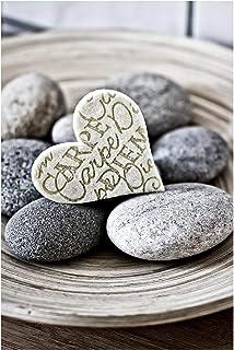 Bilderwelten Pizarra magnética - Carpe Diem Heart with Stones 60x40cm