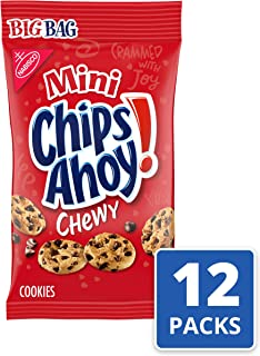 Mini Chips Ahoy! Chewy Chocolate Chip Cookies, 12 Big Bags (3 Oz.)