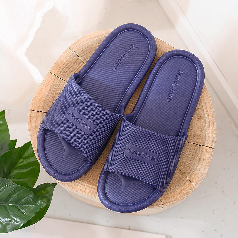 IKFIVQD Women's Non-Slip Soft Platform Pool Cartoon Slides Flat Sandals Lightweight EVA Slides Sandles