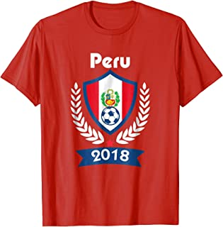 Peru Soccer shirt Team Peru 2018 TShirt Football