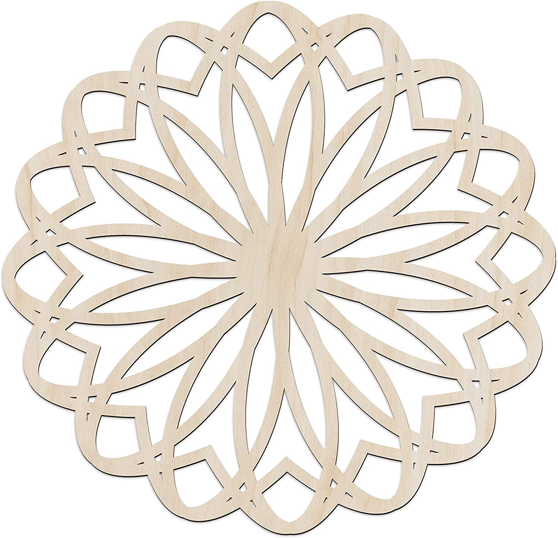 Ambesonne Mandala Wooden Wall Art South S Asian Nashville-Davidson Mall Inspired Flower High material