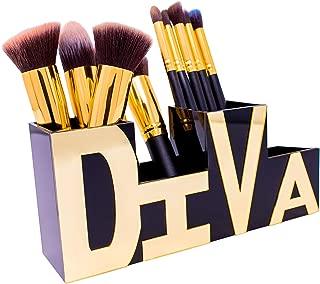 Makeup Brush Holder-Desk Organizer – Beautifully Stylized Diva Makeup Organizer & Pen Holder – Office Supply Holder - Brush Holder Boxes