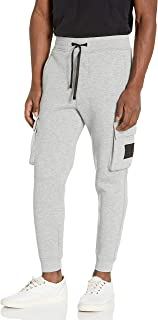 The Kooples Men's Men's Slim Fit Joggers with Elasticized Waist Band, Ankle Cuffs and Cargo Pockets