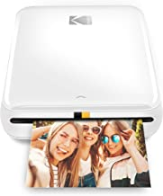 KODAK Step Wireless Mobile Photo Mini Printer (White) Compatible w/ iOS & Android, NFC & Bluetooth Devices