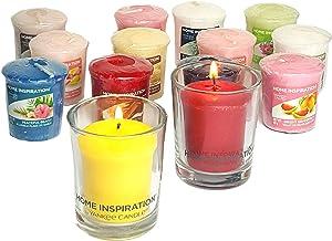 Yankee Candle - 2 Portacandela in vetro con 6 candele votive assortite