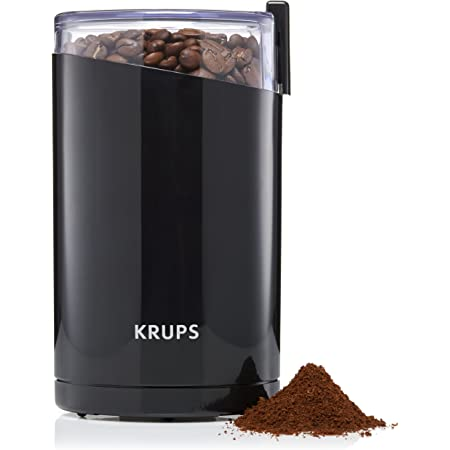 KRUPS F203 Electric Spice and Coffee Grinder with Stainless Steel Blades, 3-Ounce, Black (Renewed)