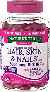 Nature's Truth Superior Strength Hair/Skin/Nails with Argan/Coconut Oil/Collagen,..