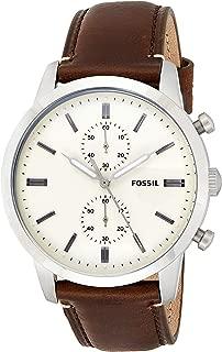 Fossil Townsman Analog Yellow Dial Men's Watch - FS5350