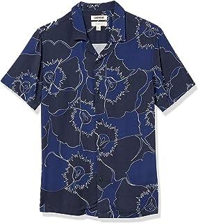 Marca Amazon - Goodthreads Slim-fit Short-sleeve Camp Collar Hawaiian Shirt - athletic-shirts Hombre