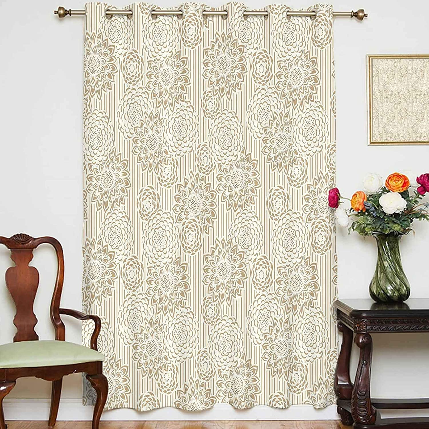 Blackout Shading Curtains Retro Dealing full price reduction Max 66% OFF Carnati Design Wildflowers Toned