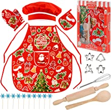 TODDLER'S MACHINE WASHABLE LINED CRAFT//COOKING APRON GINGERBREAD MEN XMAS GIFT