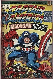 Gertmenian: Marvel HD Digital Retro Collection Comic Vol 1 193 Classic Captain America Bedding Area Rug 54x78 inch, Large, Blue