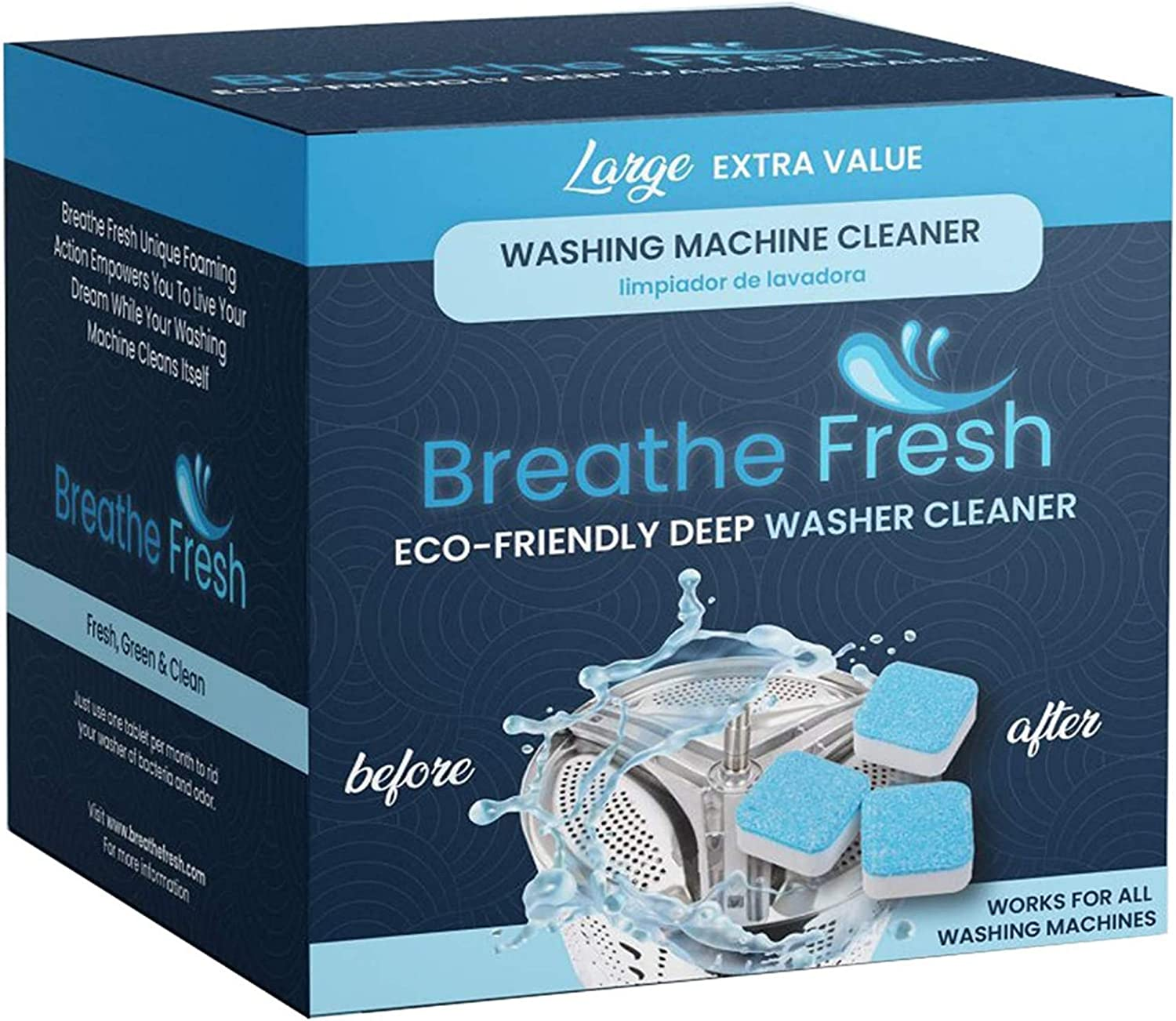 Breathe Fresh Washing Machine Cleaner Solid Washer Tablets Super popular specialty store Daily bargain sale Dee -