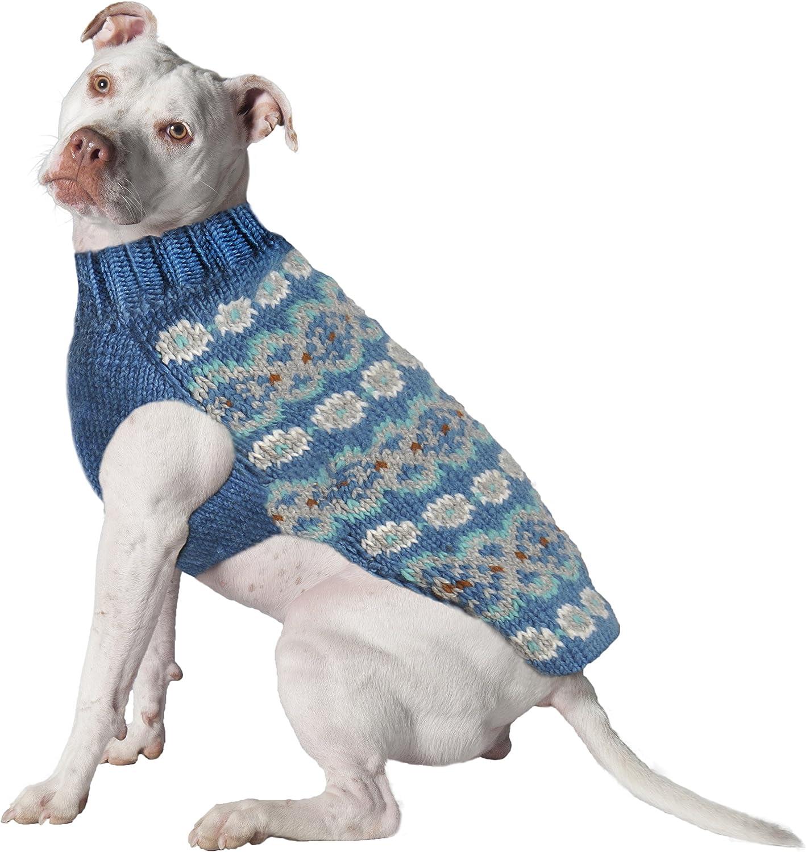 Chilly Dog Teal Denver Mall Fair Isle Alpaca latest Small Sweater