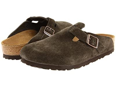 Birkenstock Boston Suede (Unisex) (Mocha Suede) Clog Shoes