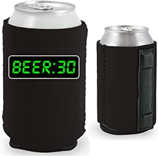 Beer 30 Magnetic Can Coolie (1, Black)