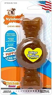 Nylabone Puppy Chew Ring Bone Chicken Flavor Medium/Wolf - Up to 35 lbs.