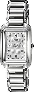 Fendi Women's 'Classico Rect' Swiss Quartz Stainless Steel Dress Watch, Color:Silver-Toned (Model: F701036000)