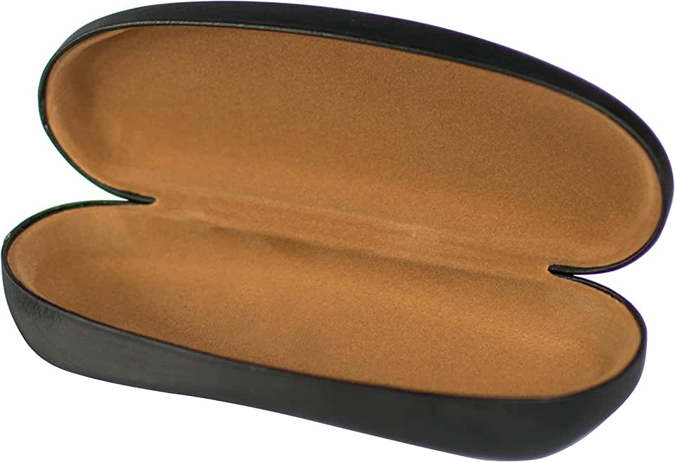Hard Sell Glasses Case with Soft Inside - Premium Quality Clamshell Case - By PERTH