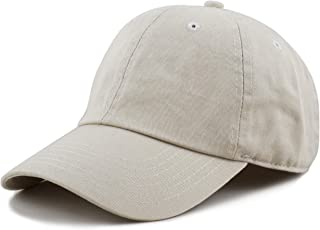 ecd55439d THE HAT DEPOT Unisex Blank Washed Low Profile Cotton and Denim Baseball Cap  Hat