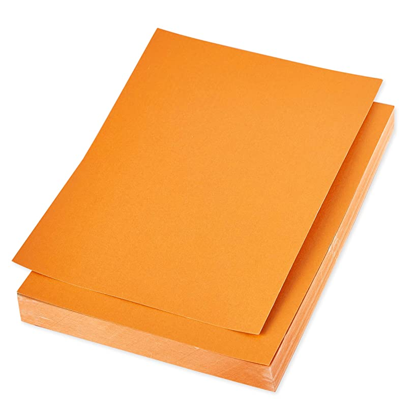 Shimmer Paper – 96-Pack Orange Metallic Cardstock Paper, Double Sided, Laser Printer Friendly - Perfect for Weddings, Baby Showers, Birthdays, Craft Use, Letter Size Sheets, 8.7 x 0.03 x 11 Inches