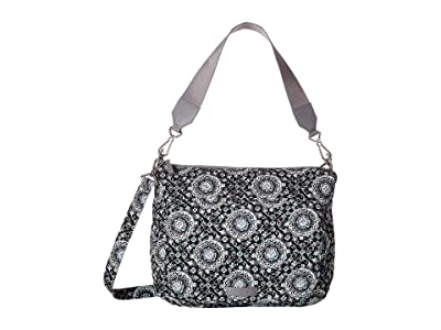 Vera Bradley Carson Shoulder Bag (Charcoal Medallion) Shoulder Handbags