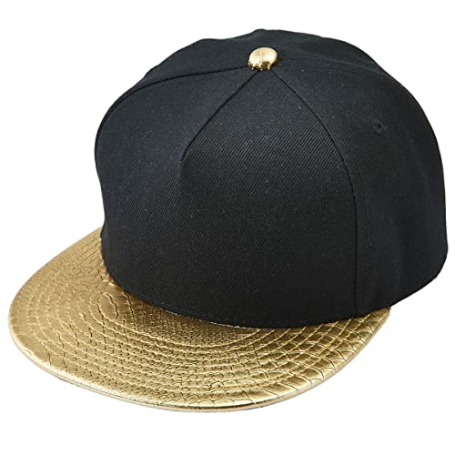 0a16750c2c2 Black and Gold Snapback  Amazon.com