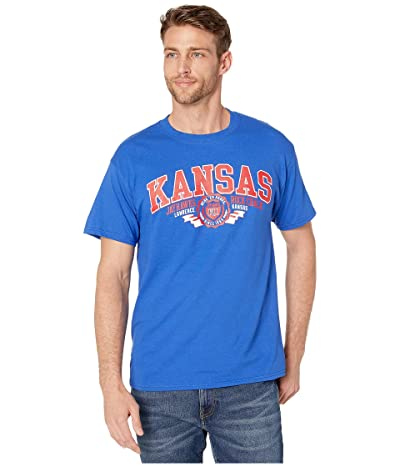 Champion College Kansas Jayhawks Jersey Tee (Royal 3) Men