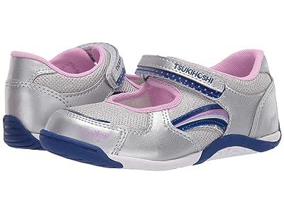 Tsukihoshi Kids Twinkle (Toddler/Little Kid) (Silver/Navy) Girls Shoes