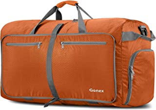 Gonex 100L Foldable Travel Duffel Bag for Luggage Gym Sports, Lightweight Travel Bag with Big Capacity, Water Repellent (Orange)