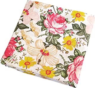 Muslin Swaddle Blankets - Floral Baby Blankets for Girls Baby Swaddle Wrap Shower Gift Large Size 47x47 inches Lightweight and Breathable (Multi Flower)