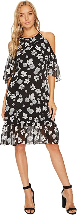 kensie - Floral Off Shoulder Halter Dress KS9K9680