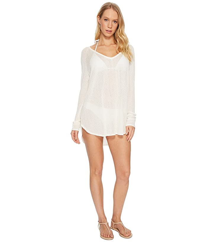 Vitamin A Swimwear Drifter Beach Sweater Cover-Up (Creme Drifter Beach Sweater) Women