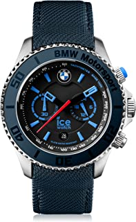 Ice-Watch - BMW Motorsport (Steel) Dark & Light Be - Reloj Azul para Hombre con Correa de Cuero
