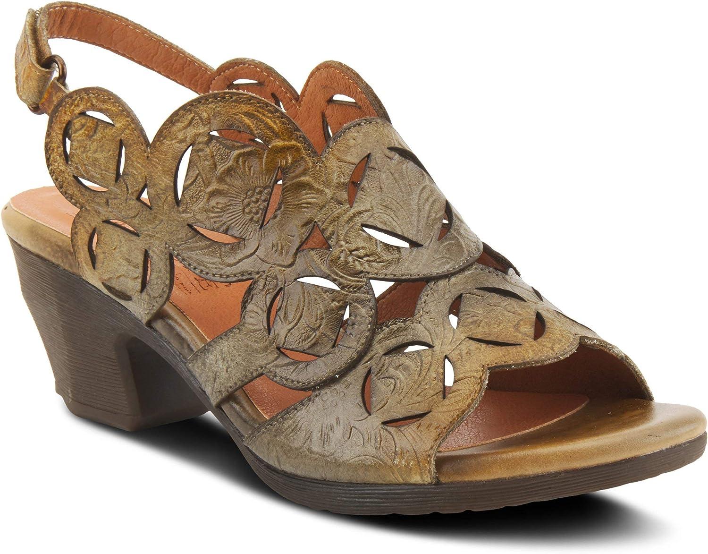Spring Step L'Artiste 期間限定今なら送料無料 Women's Sandal Medallion Slingback 人気激安