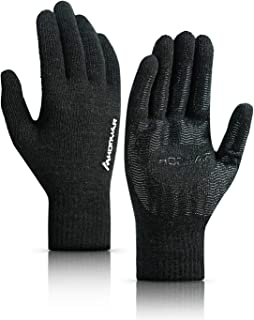 HONYAR (Upgraded) Winter Knit 360° Whole Palm Touchscreen Gloves for Men and Women with Anti-Slip Grip and Warm Soft Lining