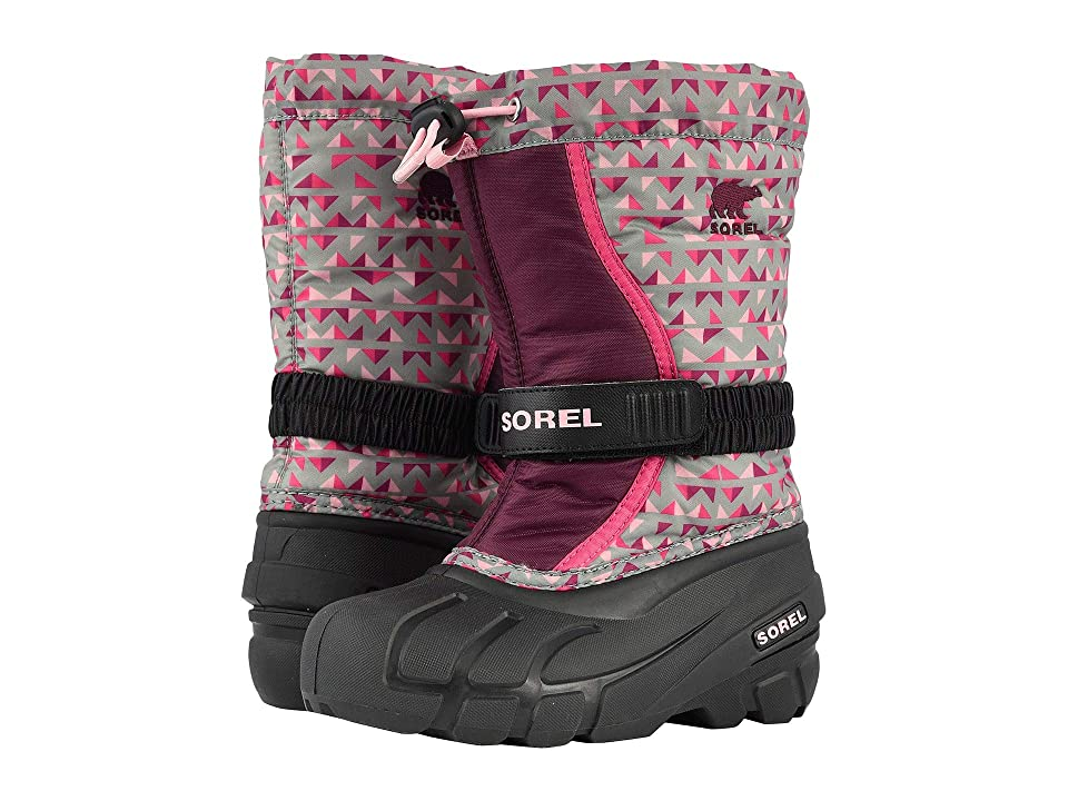 SOREL Kids Flurrytm Print (Toddler/Little Kid/Big Kid) (Black/Purple Dahlia) Girls Shoes
