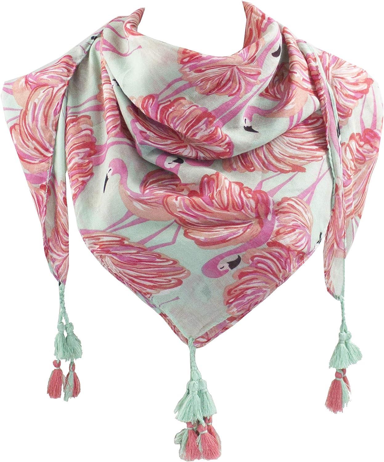 StylesILove Womens Lightweight Trendy Pattern Weave Tassels Square Shawl Scarf Wrap