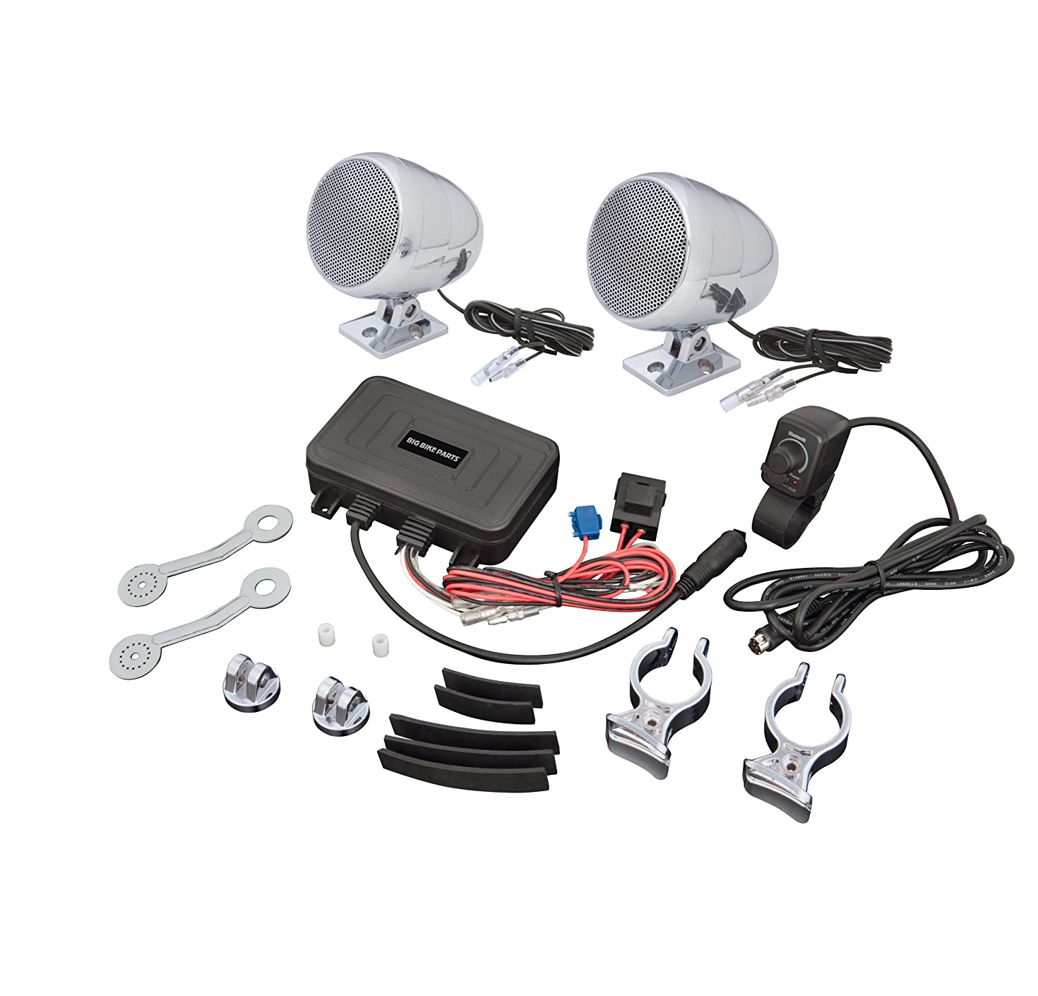 Big Bike Parts Waterproof Bluetooth Sound System Complete with Speakers