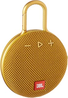 JBL Clip 3 Waterproof Portable Bluetooth Speaker - Yellow