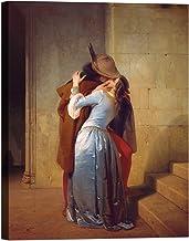 luxhomedecor Francesco Hayez The Kiss beso 70x 50cm cuadro impresión sobre lienzo con bastidor de madera