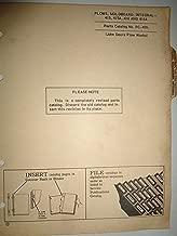 John Deere 415 415A 416 416A Integral Plow Parts Catalog PC-459 5/64